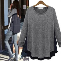 European Style New Chiffon Patchwork Maternity T-shirt Autumn Clothes for Pregnant Women Long-Sleeve Tops Clothing for Pregnancy