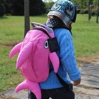 dolphin cartoon school bag child backpack kindergarten school bag