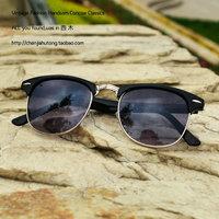 Vintage frame general sunglasses reflective lens sheet metal sun glasses myopia