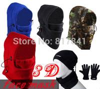 NEW Arrival Outside sport Cycling scarf men winter sports fleece muffler scarf hat gloves windproof face mask Free Shipping