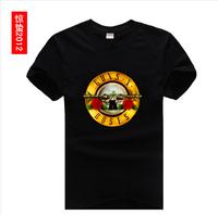 2014 New Awakening of Insects new influx of rock lovers short-sleeved t-shirt gun men took gold plate 100% cotton t-shirt men