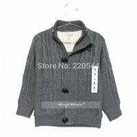 Quality  zipper fleece liner elegant casual child cardigan sweater children outerwear