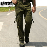 Overalls male trousers military multi pocket pants outdoor pants plus size casual loose pants autumn and winter