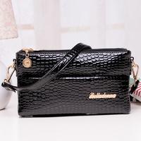 "Free shipping 2014 Fashion Shoulder Crocodile Pattern ""Women Leather Handbags Cross Body Desigual Bag"" Women Messenger Bags"