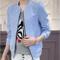 Plus size women jacket lace 2014 new fat mm small coat plus fertilizer XL XXL XXXLsignificantly thin all-match free shipping
