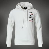 2014 new skull smoke letters printed DSQ Men's Casual Slim pullover hooded fleece sweater brand man hoody hoodies outside