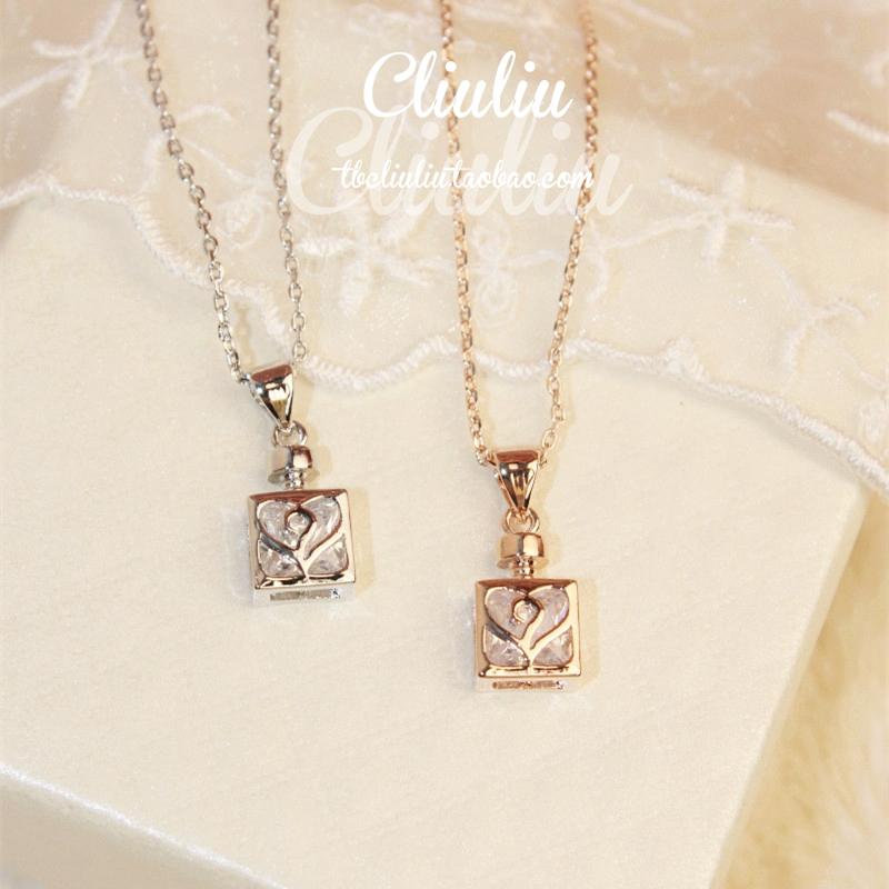 pequeno frasco de perfume zircão dom nobre roupas e acessórios feminino curto projetar cadeia colares(China (Mainland))