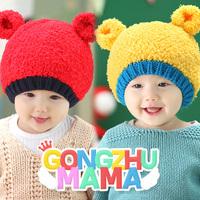 2014 NEW Winter Baby Hats  Autumn / Winter Children Skullies & Beanies Boy And Girls Velvet Caps Kids Bonnet with Ear Protector