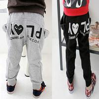 2014 spring children's pants girl boy male child pants child trousers sports pants k1302