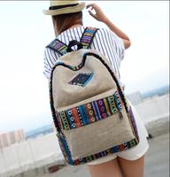 National trend fashion canvas backpack lolita school girl boy knapsack bag female preppy style infantry travel packsack rucksack