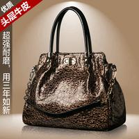 2014 first layer of cowhide women's handbag fashion for Crocodile vintage one shoulder handbag genuine leather bags women's