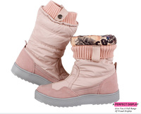 Free shipping Flats Snow Boats Winter Boots Brand Hot-Sale Waterproof Women's Shoes Japanned Plush Big Plus Size 35-41