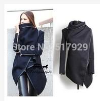 fashion 2014 autumn winter slim elegant wool trench coat outerwear woolen overcoat women trench woolen coat femininos Wool Blend