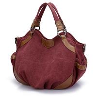 Canvas bag 2014 autumn and winter large capacity the trend one shoulder handbag messenger bag women's handbag travel big bag