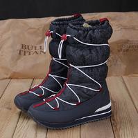 Free shipping Flats Boats Winter women Boots Brand Hot-Sale Waterproof Women's Shoes Japanned Plush Big Plus