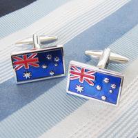 Factory wholesale, high quality French cufflinks, men's business cufflinks, Australian flag
