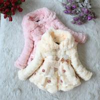 Winter baby girl outerwear kids girl quality baby girl fur coat children's clothing girls winter coat winter jackets for girls
