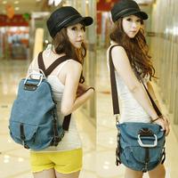 Fashion women's handbag bags one shoulder backpack canvas bag female casual messenger bag multifunctional bag