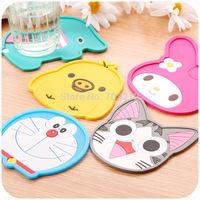 Cartoon silica gel heat pad fashion coaster cup pad placemat bowl pad disc pads