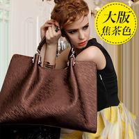 2014 women's the trend of fashion handbag cowhide women's bags big bag fashion messenger bag handbag