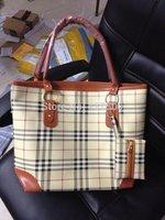2014 Fashion Hot sale ! British Style women plaid print shoulder bags leather handbags Wholesale free shipping