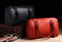 Fashion  B OSS bucket bag women's tassel handbag bag all-match pillow shoulder bag woman travel bag