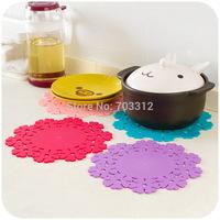 Thick silica gel heat pad plus size pot holder bowl pad disc pads slip-resistant jottings 22cm/pcs