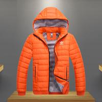 Men  sports winter wadded jacket men duck  Down cotton winter  thermal thickening sports cotton-padded jacket sizeM-XXL