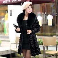 hot-selling 2014 fox fur mink overcoat medium-long fight mink fur coat Free shipping