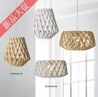 Plike birdbrains wood DIY pc knitted wool bird cage net IKEA pendant light project light loft