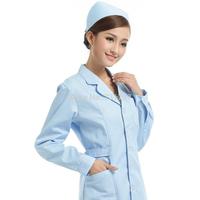 Free Shipping Nurse Clothing Doctor Clothing Long-Sleeve Winter White Coat Beauty Work Wear M-423