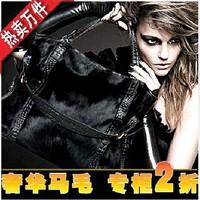 Luxury genuine leather horse hair bags fashion large capacity 2014 women's cowhide handbag casual bag one shoulder handbag