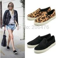 Free shipping 2014 Wholesales Summer flats sweet girls shoes women fashion super-soft women flats leopard print women shoes