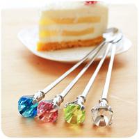 Cute Tbleware Drop Diamond Stainless Steel Coffee Spoon Mixing Spoon Stick