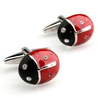 High quality French cufflinks, men's shirt cufflinks, cufflinks pictographic class red Beetle