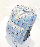 2014 preppy style school bag travel bag backpack canvas laptop backpack
