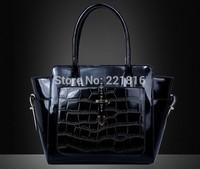 2014 the new Crocodile women shoulder bag Retro Pack women handbag Genuine Leather bags high quality tote bags FY1509