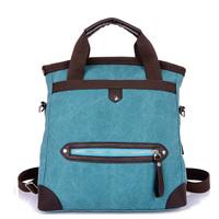 Canvas bag 2014 bag multifunctional casual student school bag backpack one shoulder handbag messenger bag