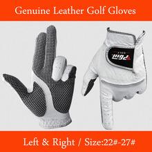 Véritable Golf gants en cuir souple respirant pures en peau de mouton hommes gauche droite gants de Golf accessoires de Golf(China (Mainland))
