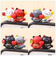 Gemini lucky cat for   millet for  for SAMSUNG   3.5mm general cartoon mobile phone dust plug