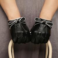2014 Fashion Women's Leather Gloves Winter Sheepskin Genuine Leather Gloves