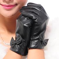 2014 Fashion Winter Women's Suede Gloves Fashion Leather Gloves