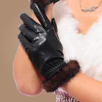 2014 Fall Fashion Women's Genuine Leather Winter Gloves Female Gloves Mittens Women Gloves