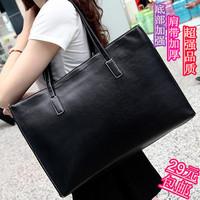 Women's handbag big bag 2014 all-match casual bag large capacity brief black one shoulder handbag