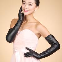 2014 Fashion Winter Gloves Women's Long Leather Gloves Genuine Leather Gloves Extra Long Gloves