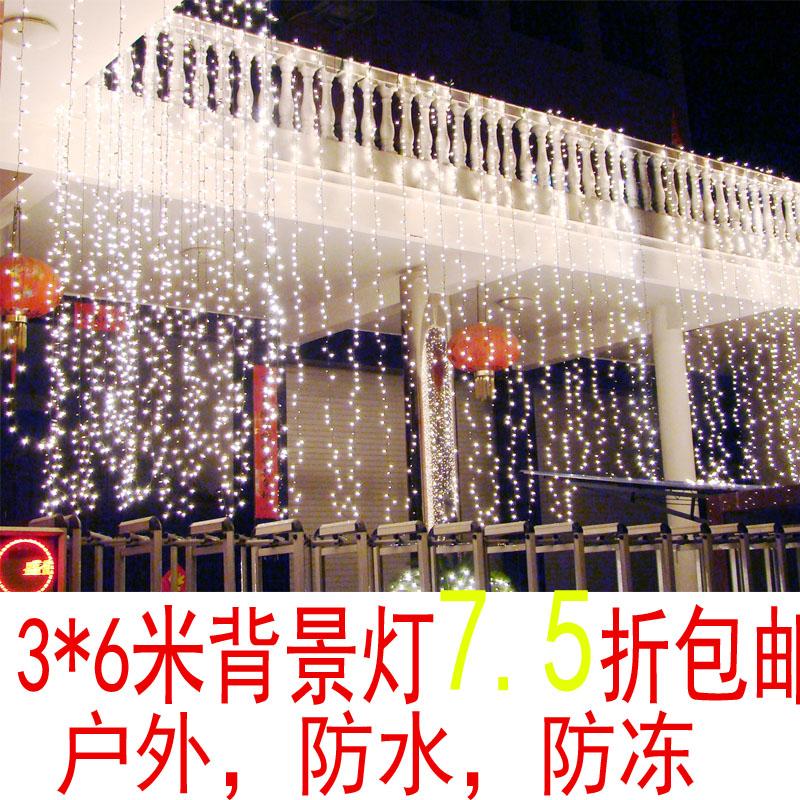 Led string XMAS 6w L * H 6 m 3 m AC220v 600 led waterfall string Christmas holiday light wedding light curtain with a tail plug(China (Mainland))