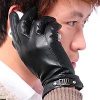 2014 Fashion Men's Winter Gloves Genuine Leather Gloves Motorcycle Gloves Mittens