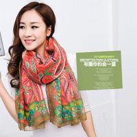 New spring summer bohemia long cape sunscreen silk scarf national trend female scarf
