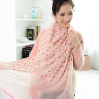 Ultra long air conditioning cape travel beach sunscreen silk scarf female scarf