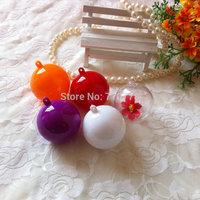 5cm of the transparent plastic ball hollow display decoration plastic ball diy wedding christmas tree hanging drop